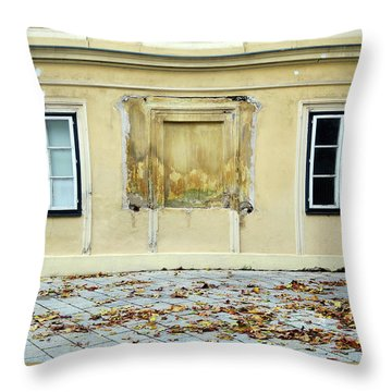 Wiener Wohnhaus Throw Pillow by Christian Slanec