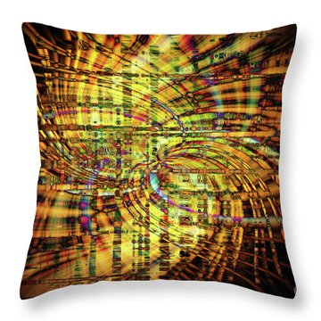 Wigged Out Throw Pillow by Cathy Donohoue
