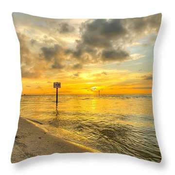 Wiggins Pass State Park Throw Pillow