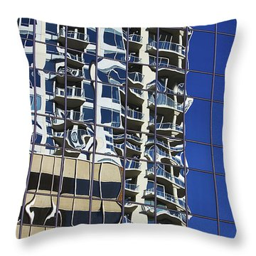 Throw Pillow featuring the photograph Wiggly Balconies by Phyllis Denton