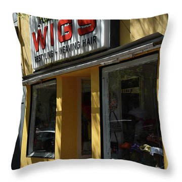 Throw Pillow featuring the photograph Wigs by Skip Willits