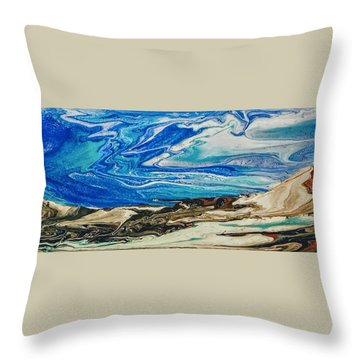 Wiinter At The Beach Throw Pillow