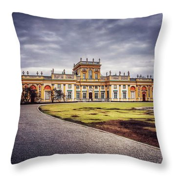 Wilanow Palace In Warsaw  Throw Pillow