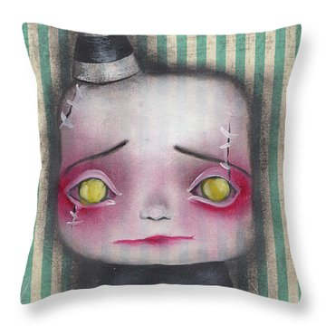 Wilbert  Throw Pillow by Abril Andrade Griffith