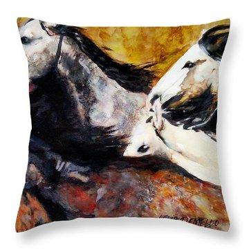 Wild 5 Throw Pillow