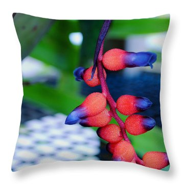 Throw Pillow featuring the photograph Wild About Bromeliads2 by Kate Word