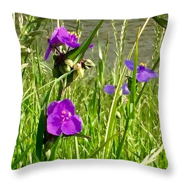 Wild About Violet Throw Pillow