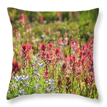 Wild About Wildflowers Throw Pillow