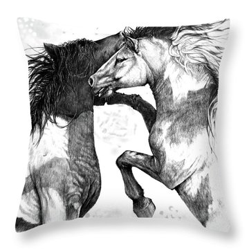 Wild And Free Throw Pillow by Heidi Kriel