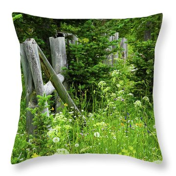 Throw Pillow featuring the photograph Wild And Wildflowers by Marie Leslie