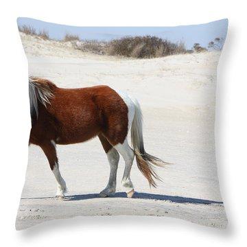 Wild Assateague Ponies 2 Throw Pillow