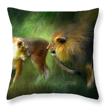Wild Attraction Throw Pillow by Carol Cavalaris