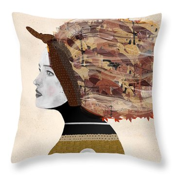 Throw Pillow featuring the painting Wild Autumn by Bri B