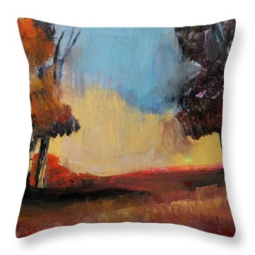 Wild Beautiful Places Trees Landscape Throw Pillow