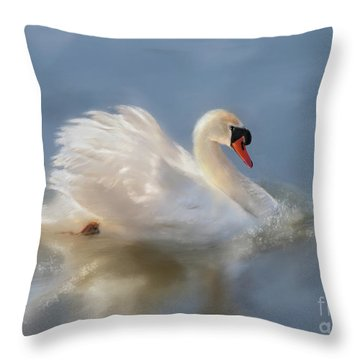 Wild Beauty Painted Throw Pillow