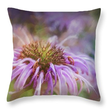Wild Bergamot Throw Pillow