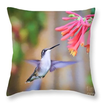 Wild Birds - Hummingbird Art Throw Pillow