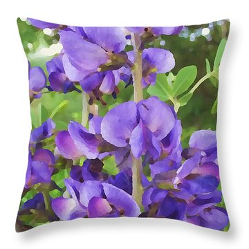 Wild Blue False Indigo Throw Pillow
