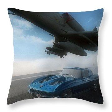 Wild Blue Throw Pillow by Richard Rizzo