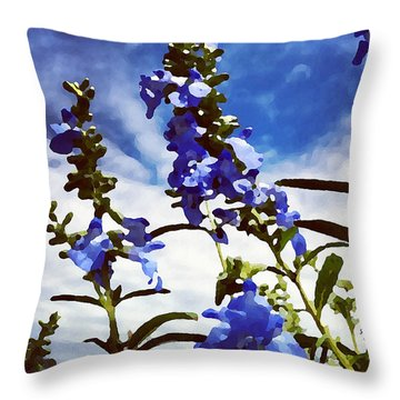 Wild Blue Sage  Throw Pillow
