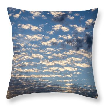 Wild Blue Sunset Throw Pillow
