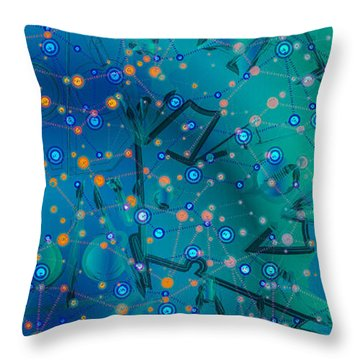 The Wild Blueberry Throw Pillow