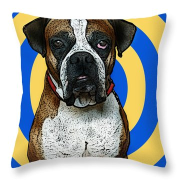 Wild Boxer 1 Throw Pillow by Bibi Romer