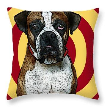 Wild Boxer 2 Throw Pillow by Bibi Romer