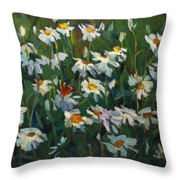 Wild Camomile Throw Pillow