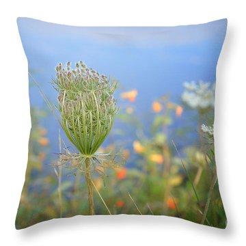 Wild Carrot Throw Pillow