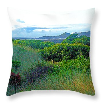 Wild Coastal Flora Throw Pillow