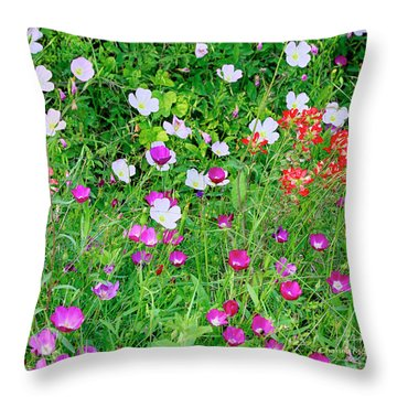 Throw Pillow featuring the photograph Wild Color Patch by Charles McKelroy