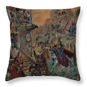 Wild Fantasy Throw Pillow
