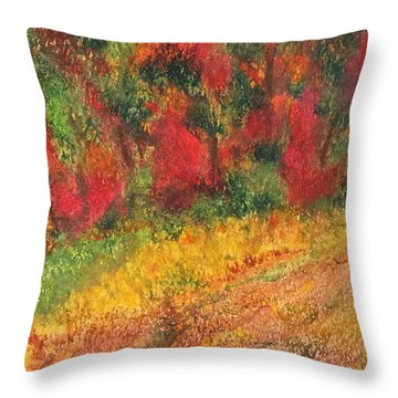 Wild Fire Throw Pillow