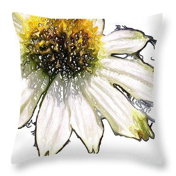 Throw Pillow featuring the photograph Wild Flower Five  by Heidi Smith