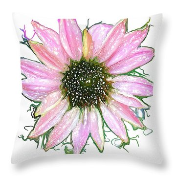 Throw Pillow featuring the photograph Wild Flower Four by Heidi Smith