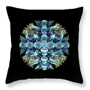 Throw Pillow featuring the digital art Wild Flower by Lyle Hatch
