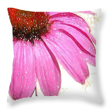 Throw Pillow featuring the photograph Wild Flower One  by Heidi Smith