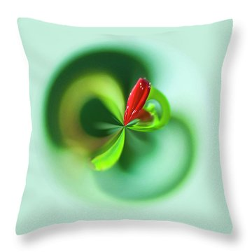 Throw Pillow featuring the photograph Wild Flower Orb by Bill Barber