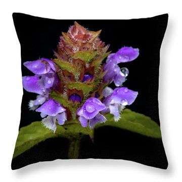 Wild Flower Portrait Throw Pillow