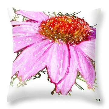 Throw Pillow featuring the photograph  Wild Flower Three by Heidi Smith
