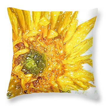 Throw Pillow featuring the photograph  Wild Flower Two  by Heidi Smith