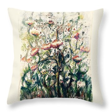 Wild Flowers # 2 Throw Pillow