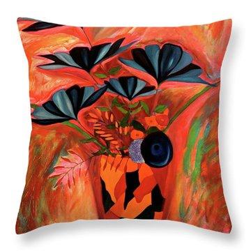 Wild Flowers  A Still Life  Throw Pillow