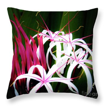 Wild Flowers In Hawaii Throw Pillow