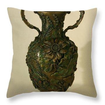 Wild Flowers Of Cedar Ridge Throw Pillow by Dawn Senior-Trask