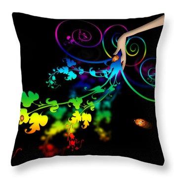 Wild Flowers Throw Pillow by Svetlana Sewell