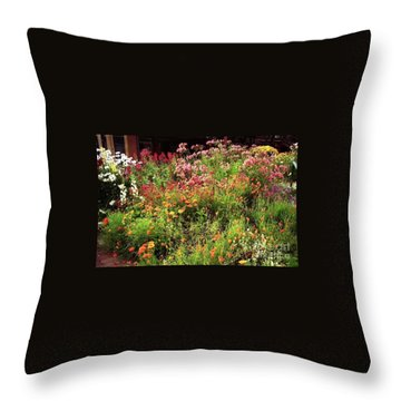 Wild Flowers Throw Pillow by Ted Pollard