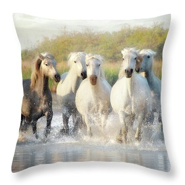 Wild Friends Throw Pillow