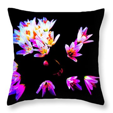 Wild Garlic Throw Pillow by Richard Patmore